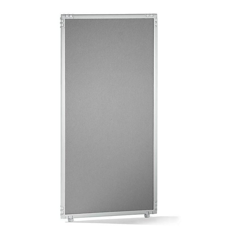 CERTEO Cloison - feutre, cadre gris clair - 650 x 1300 mm - Coloris cloison: gris clair