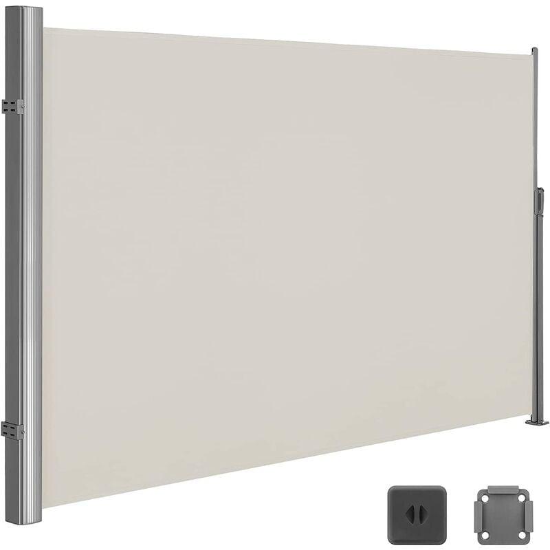 SONGMICS Store latéral 350 x 180cm Abri soleil Paravent extérieur rétractable extérieur
