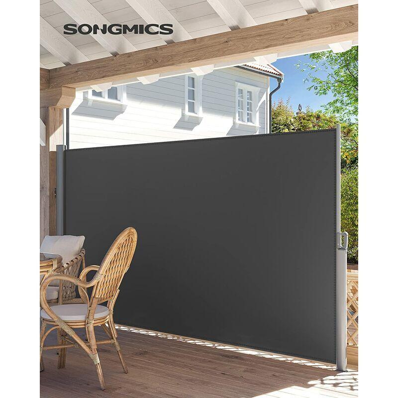 SONGMICS Store latéral 350 x 180cm Abri soleil Paravent extérieur rétractable brise vue