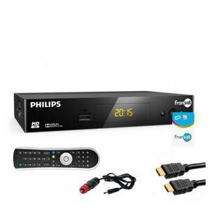 Philips - PACK RECEPTEUR SATELLITE 12V FRANSAT + CARTE PC6 + CORDON 12V CAMPING - Publicité