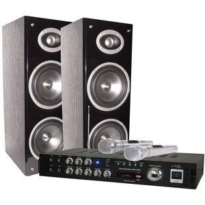 LTC AUDIO 200 watts karaoké set chaîne hi-fi amplificateur party microphone STAR 3D BT - Publicité