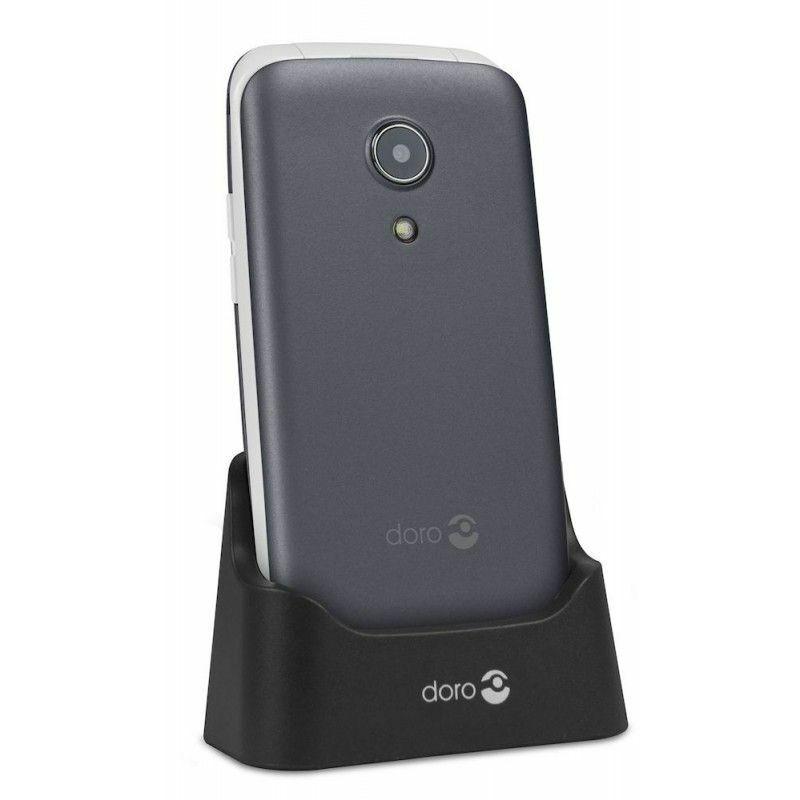 DORO Téléphone à clapet 2414 - Argent - Gris - Doro