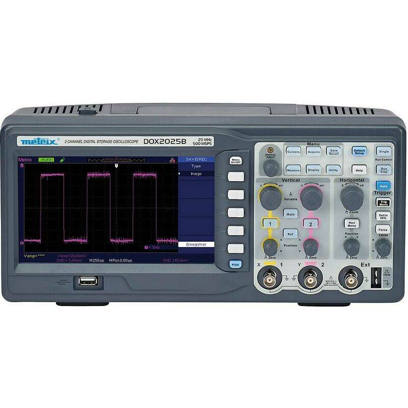METRIX Oscilloscope de table numérique DOX2025B avec 2 canaux de Chauvin Arnoux X885721