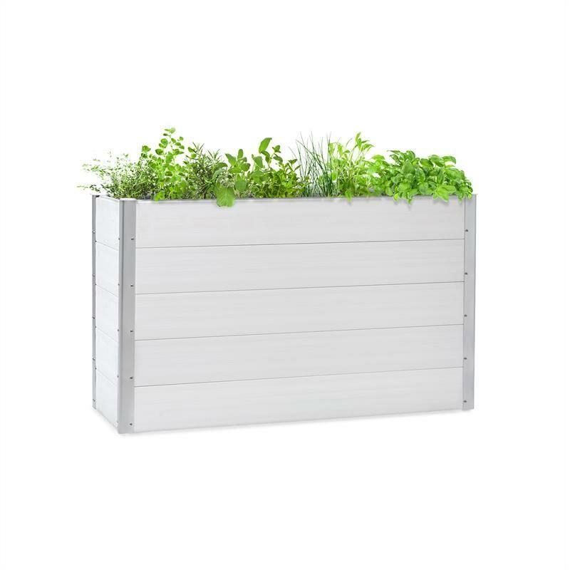 Blumfeldt Nova Grow Potager surélevé 150 x 91 x 50 cm WPC aspect bois blanc