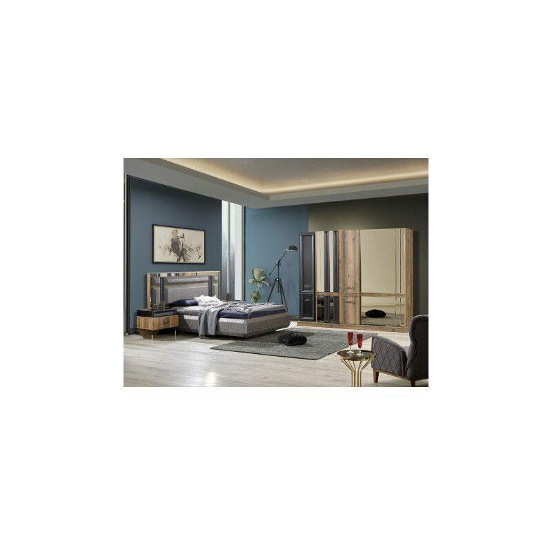 Azura Home Design - Chambre adulte complète MERLIN - Argent