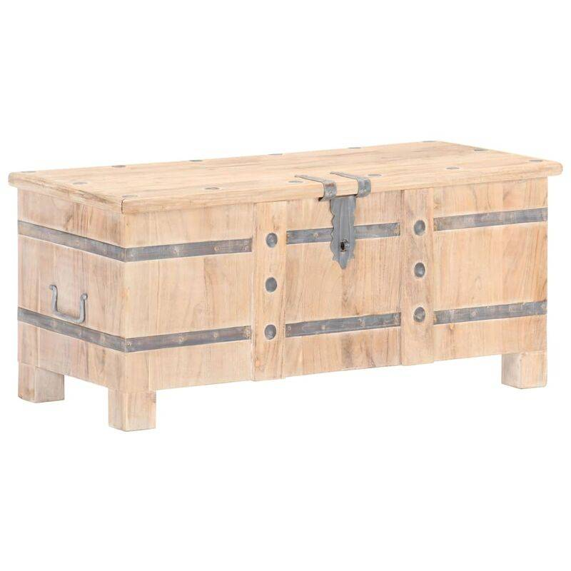 YOUTHUP Coffre 90x40x40 cm Bois d'acacia solide