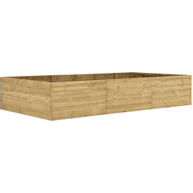 Zqyrlar - Jardinière 300x150x54 cm Bois de pin imprégné