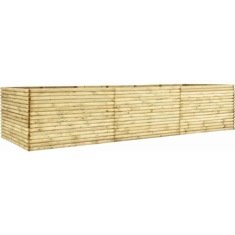 ZQYRLAR Jardinière 450x100x96 cm Bois de pin imprégné 19 mm