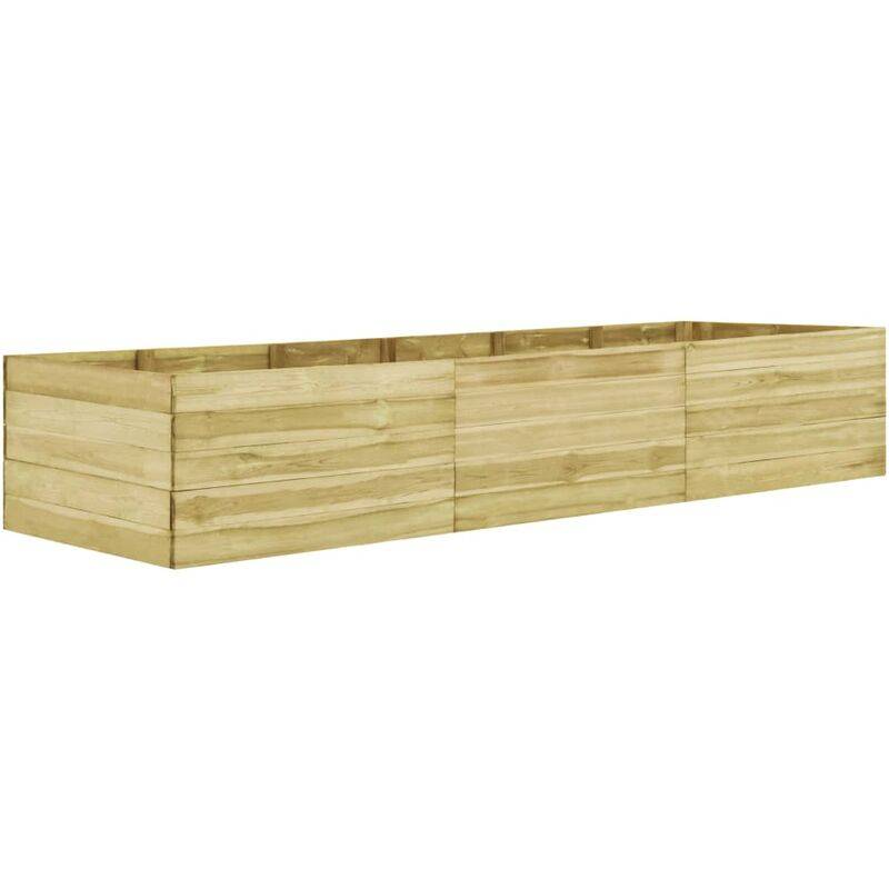 Zqyrlar - Jardinière 450x150x54 cm Bois de pin imprégné