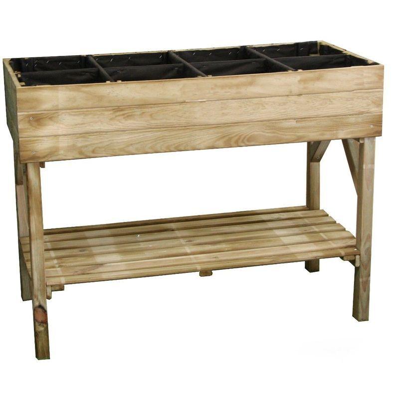 Cémonjardin - Potager sur pieds en bois traité 1 bac 120x60cm