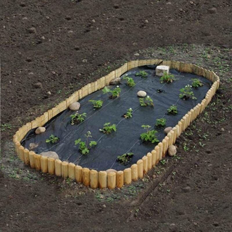 ARTISANMAT Tissu Revêtement Toile de Paillage anti mauvaises herbes 70g 1,6x100m 160m2