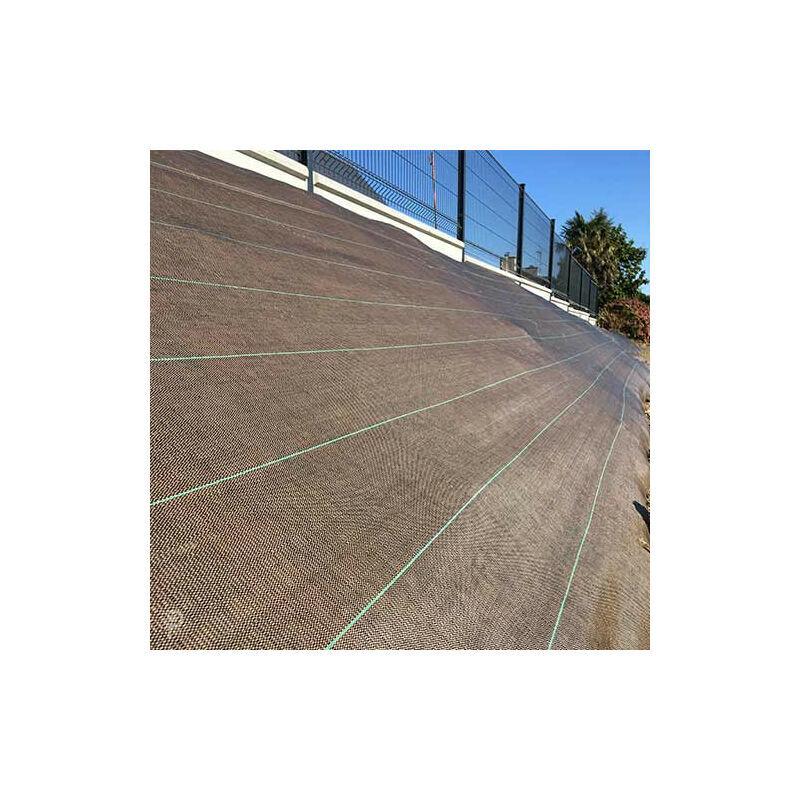 ATOUT LOISIR Toile de paillage 130g/m², Long 100 m, Couleur Vert, Larg 2.10 m