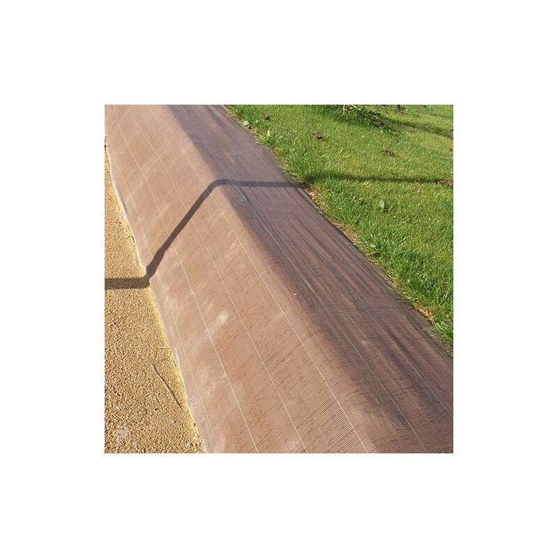 ATOUT LOISIR Toile de paillage 90g/m², Long 100 m, Couleur Marron, Larg 3.30 m