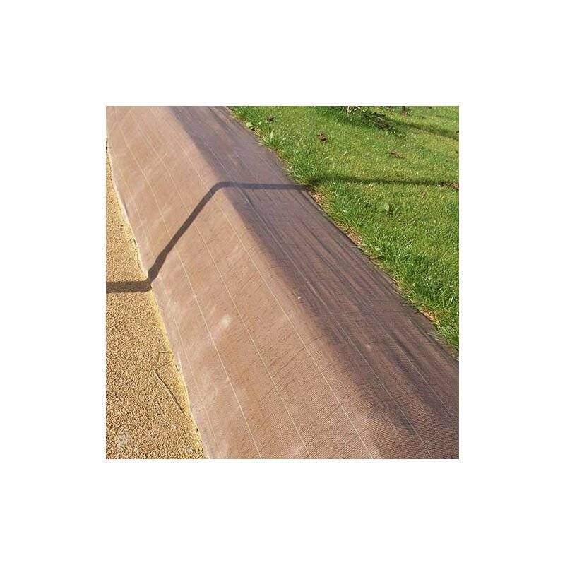 ATOUT LOISIR Toile de paillage 90g/m², Long 100 m, Couleur Vert, Larg 5.25 m