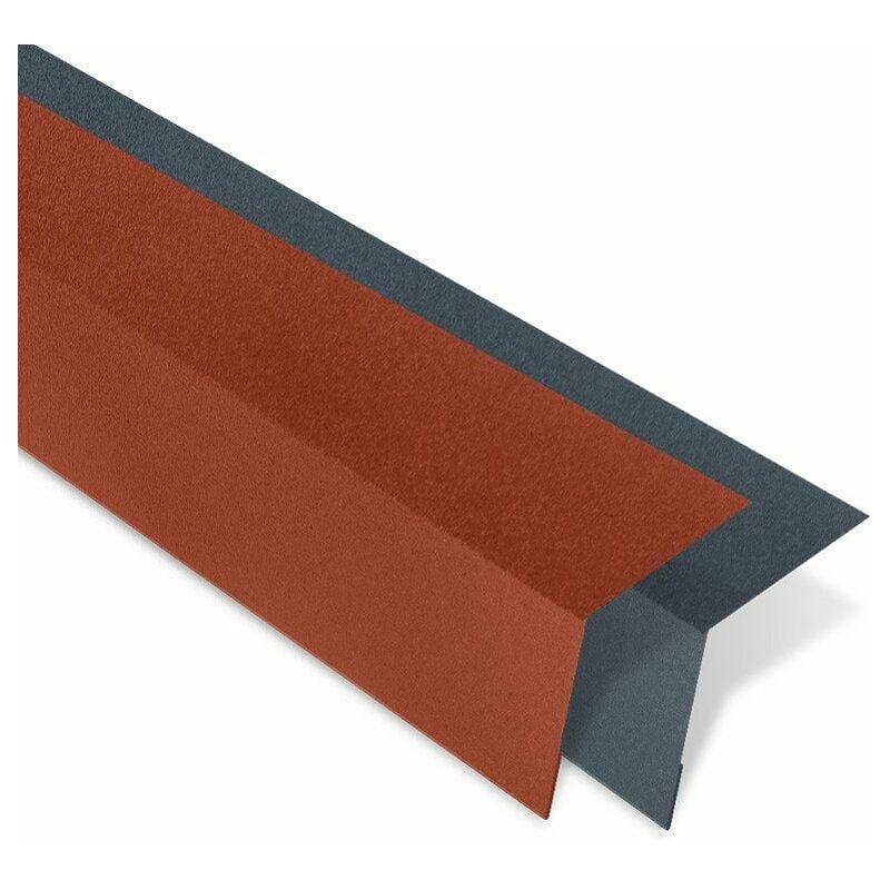BACACIER Bande d'égout pour tôle tuiles Tuile R®   Anthracite mat - 1000 mm Longueur
