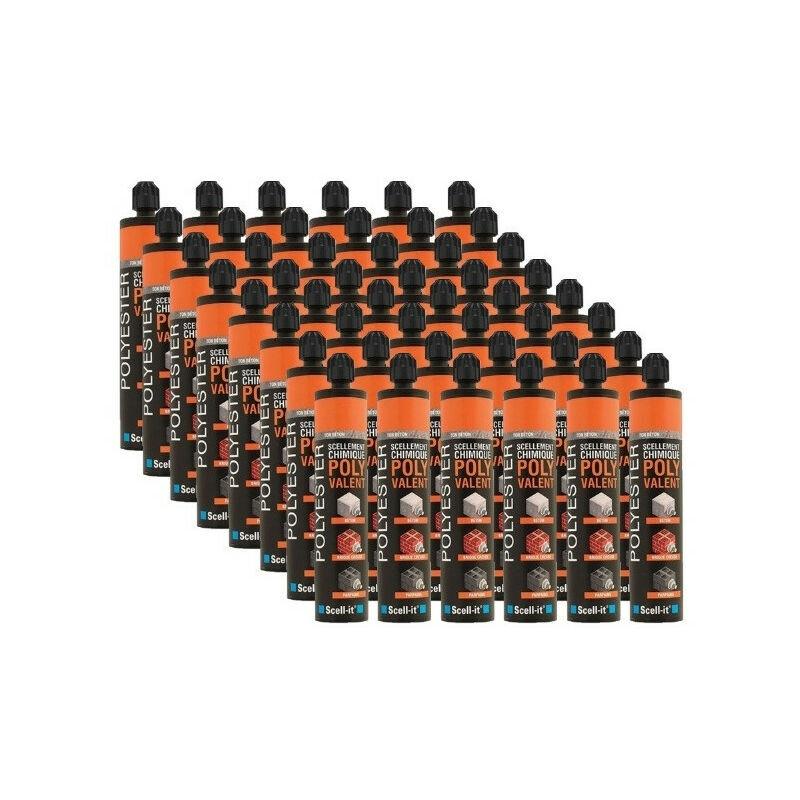 SCELL-IT Cartouches scellement chimique ton gris béton Polyvalent F 300ml SCELL-IT (24