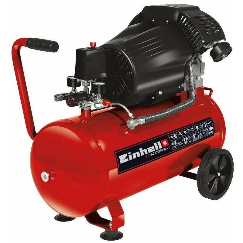 Einhell - Compresseur TC-AC 420/50/10 V - Puissance d'aspiration 420 l/min