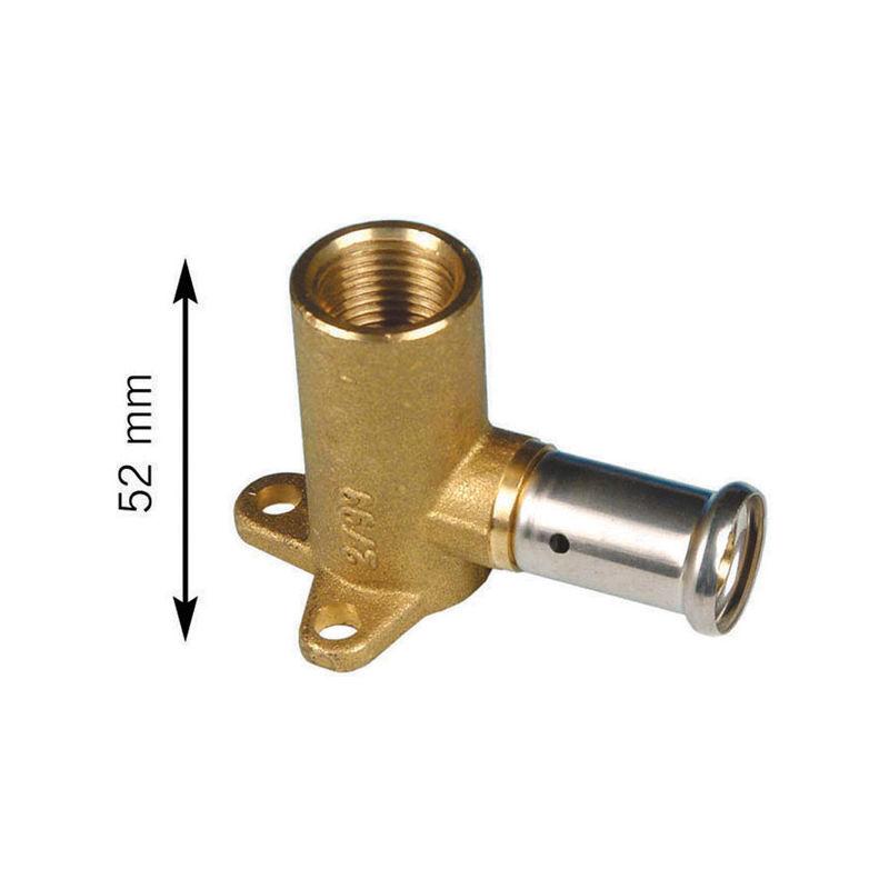 Henco - Applique 45mm laiton multicouche a sertir TH ou BE Femelle 3/4 - O20x2.0
