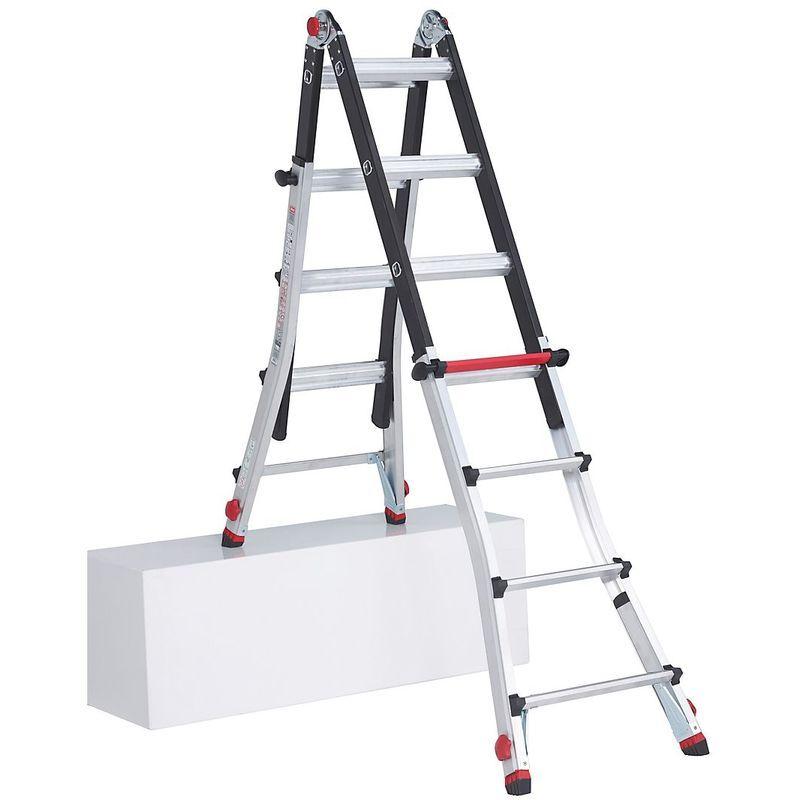 ALTREX Echelle pliante télescopique, utilisable comme échelle ou comme escabeau, avec