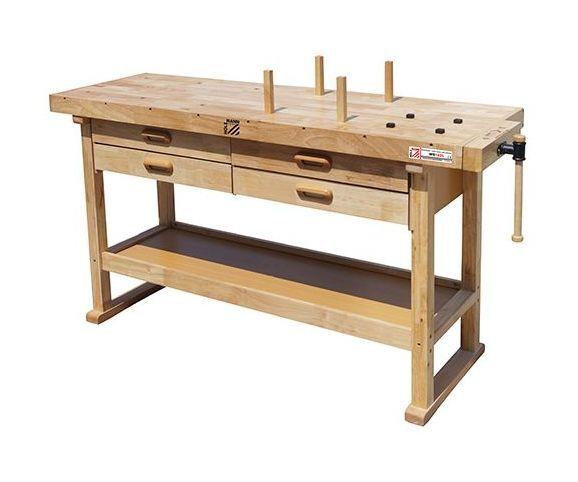 HOLZMANN Etabli bois 1625 x 610 mm 4 tiroirs - WB162L - Holzmann - -