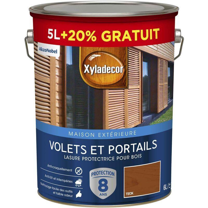 XYLADECOR Lasure protectrice pour bois extérieur - Volets et Portails - aspect satin teck