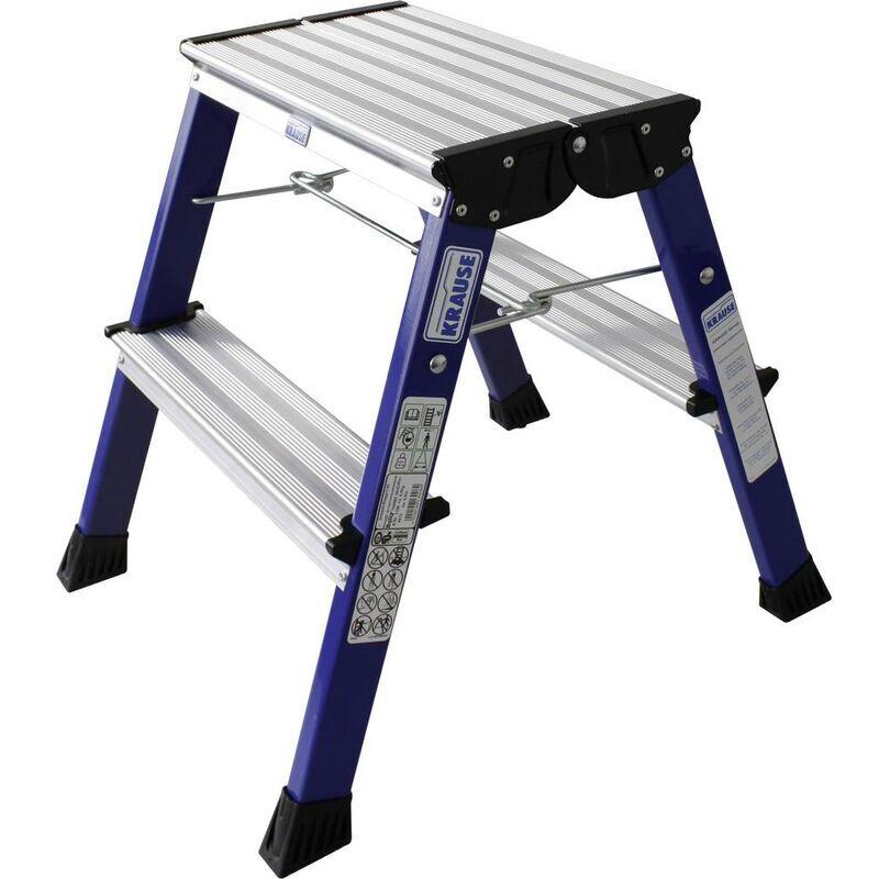 KRAUSE Marche-pied pliable à roulettes bleu 130082 Hauteur de travail (max.) 2.45 m