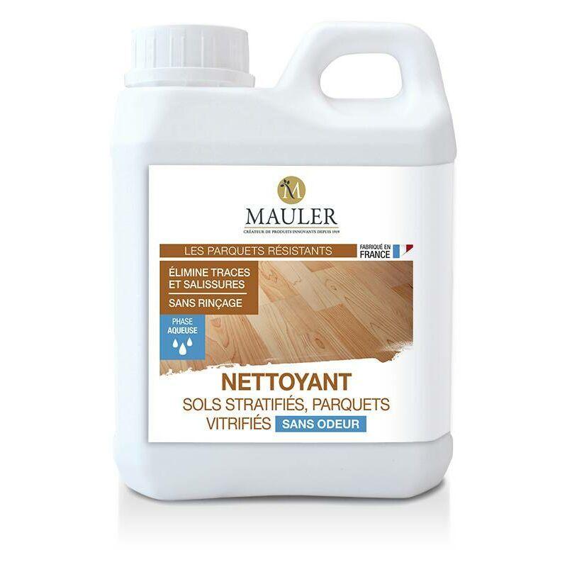 MAULER Nettoyant sols stratifiés et parquets vitrifiés sans odeur - 1 litre - MAULER