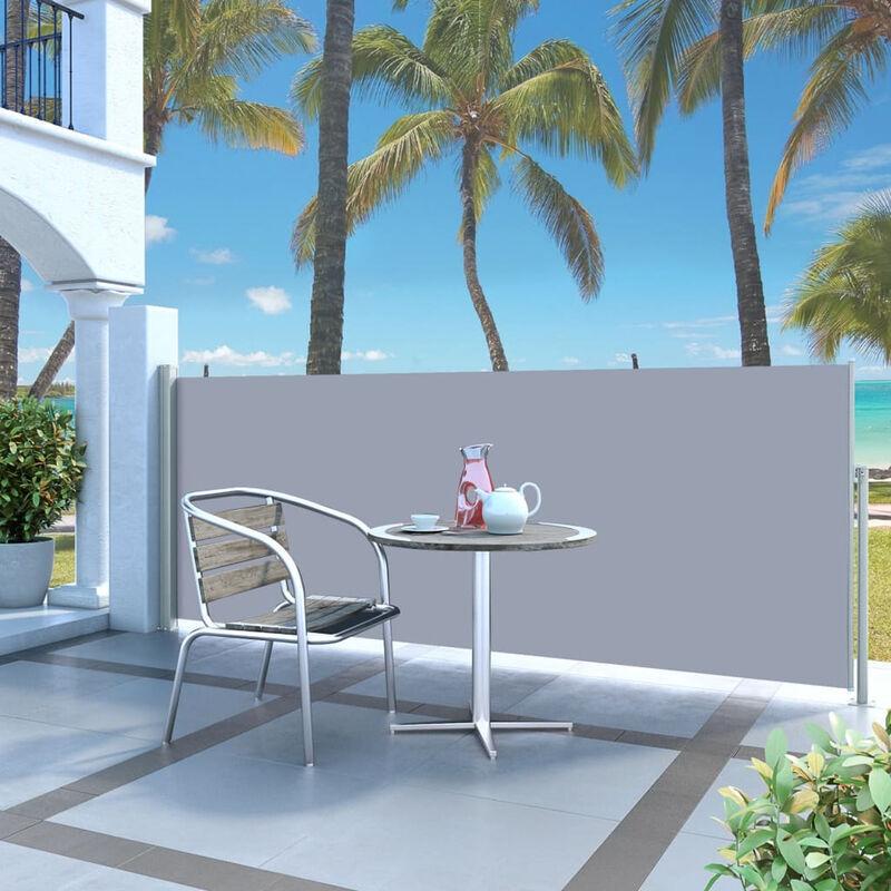 ASUPERMALL Paravent Exterieur Auvent Lateral Retractable 120 X 300 Cm Blanc Casse