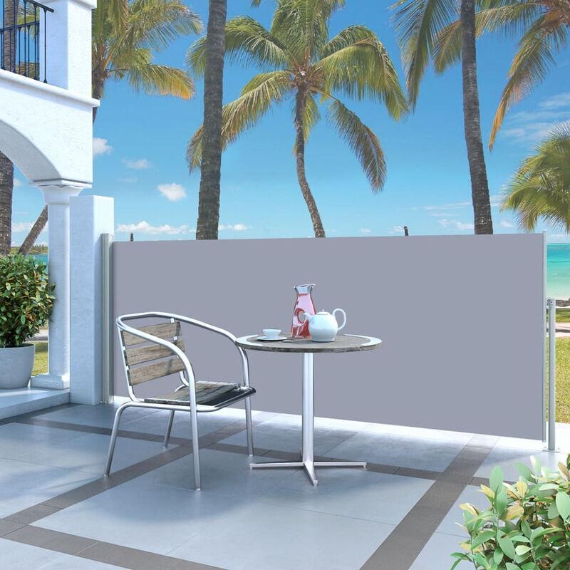 ASUPERMALL Paravent Exterieur Auvent Lateral Retractable 120 X 300 Cm Gris