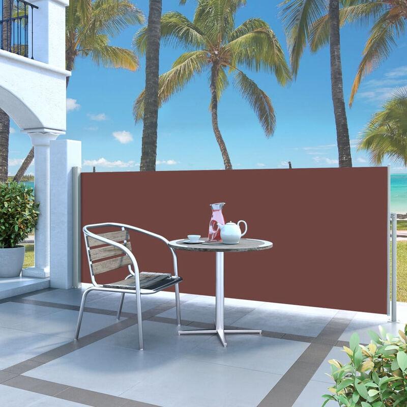 ASUPERMALL Paravent Exterieur Auvent Lateral Retractable 120 X 300 Cm Marron