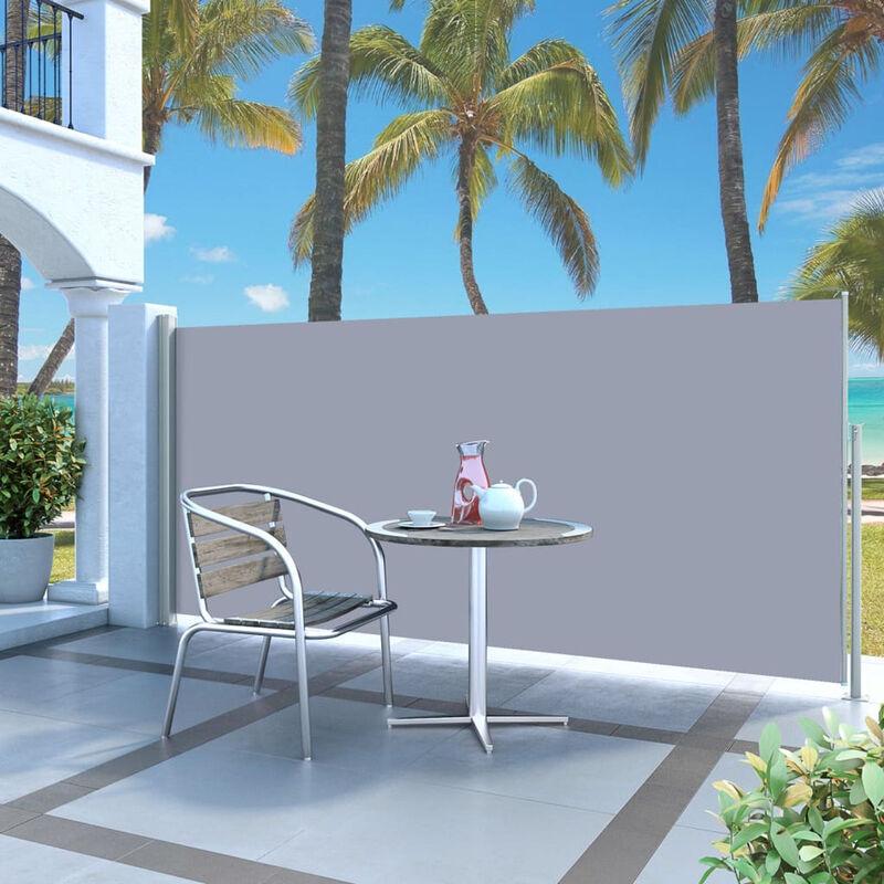 ASUPERMALL Paravent Exterieur Auvent Lateral Retractable 140 X 300 Cm Blanc Casse