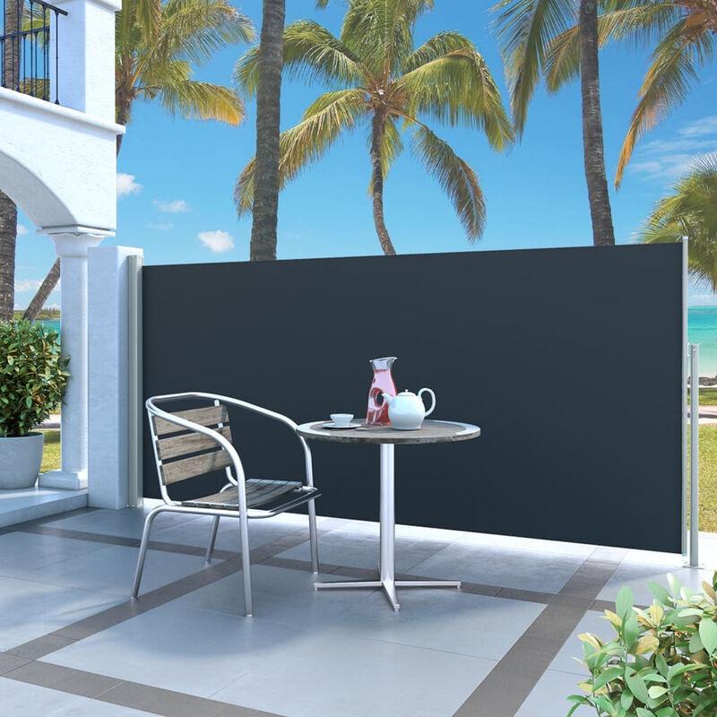ASUPERMALL Paravent Exterieur Auvent Lateral Retractable 140 X 300 Cm Noir