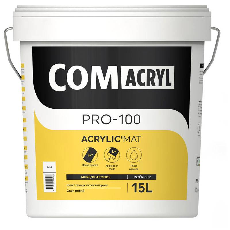 COMUS Peinture décorative acrylique mate top rapport qualité/prix : Comus Comacryl