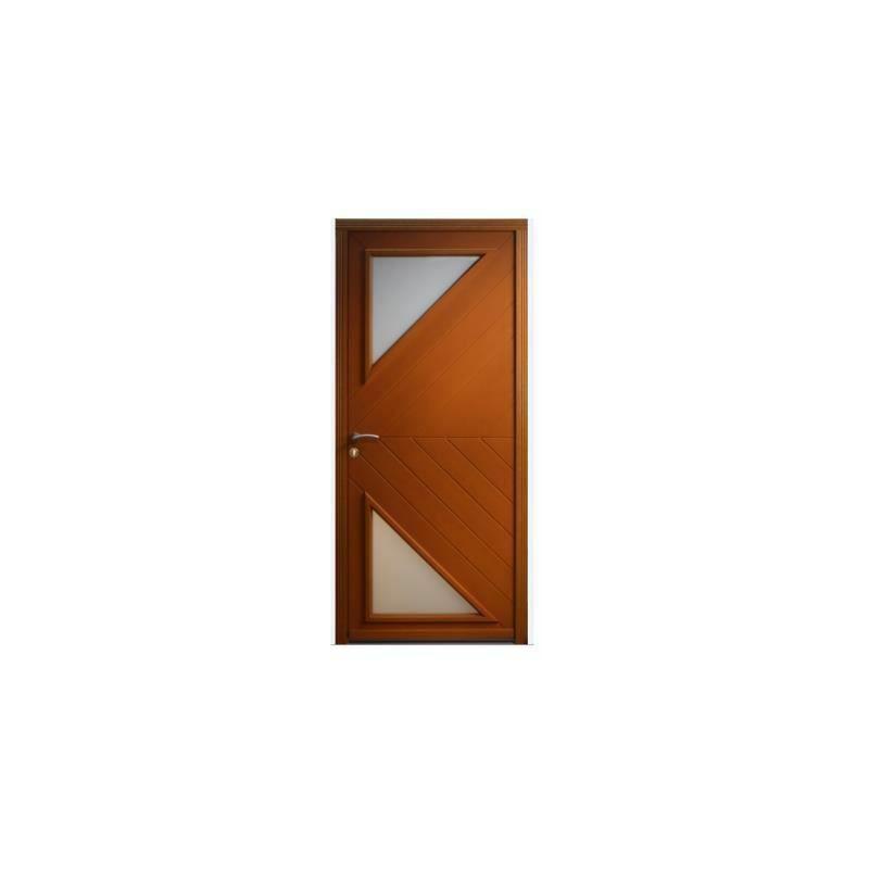 Gd Menuiseries - PORTE D ENTREE MODELE 'TRIT' 215X90 POUSSANT droite - A VOS
