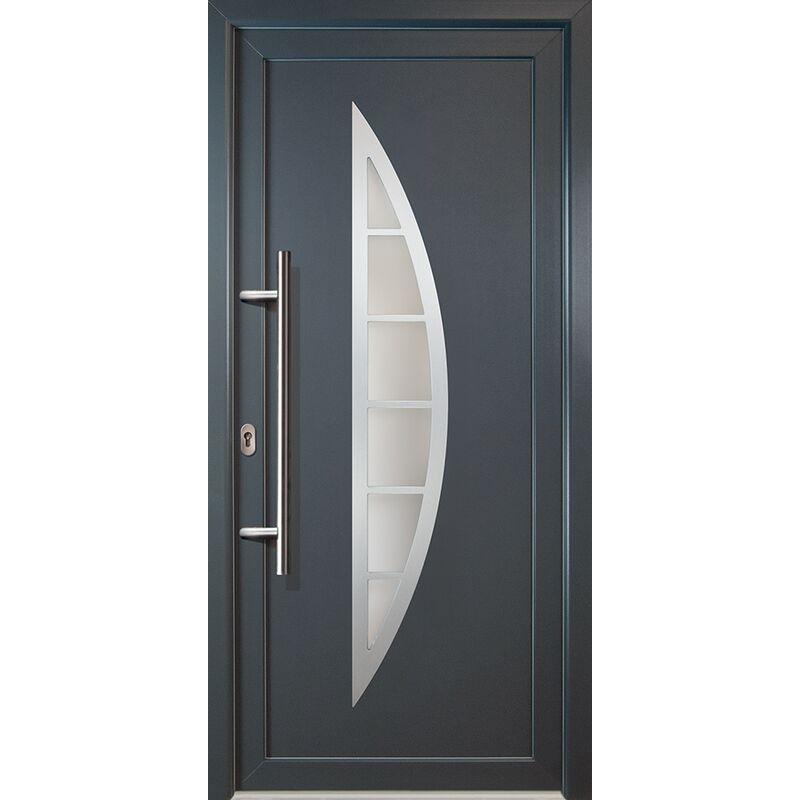 Meeth - Portes d'entrée classique modèle C23, intérieur: blanc, extérieur: