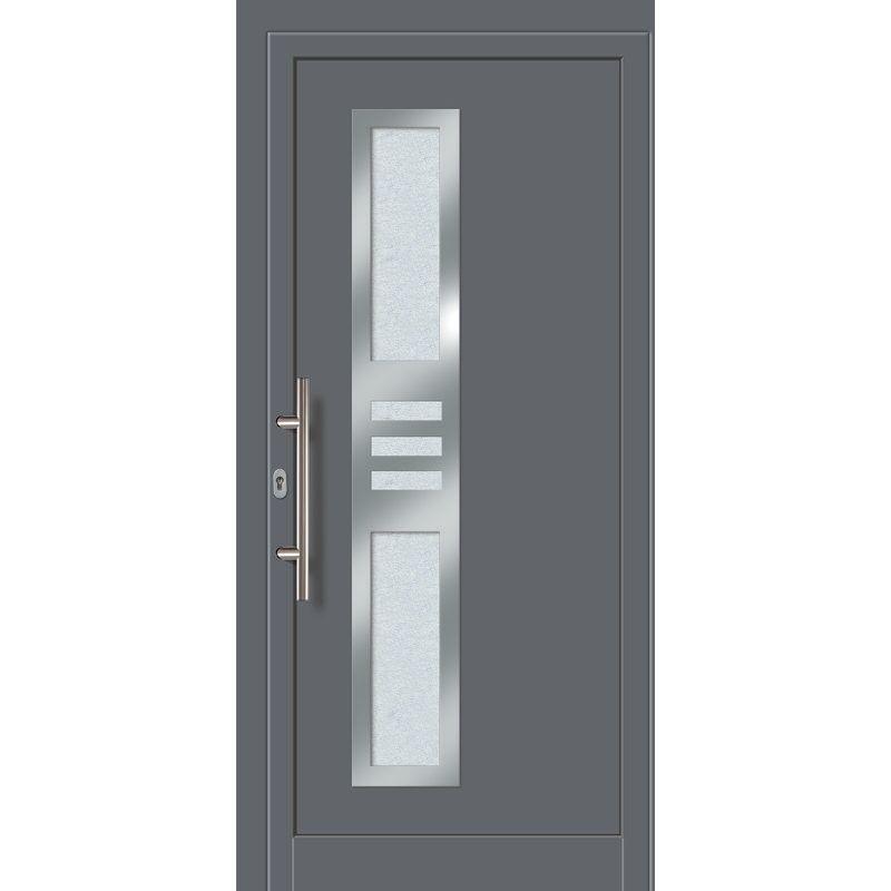 Meeth - Portes d'entrée Exklusiv modèle 853, intérieur: titane, extérieur: