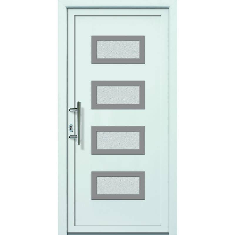 Meeth - Portes d'entrée Exklusiv modèle 892, intérieur: blanc, extérieur: blanc