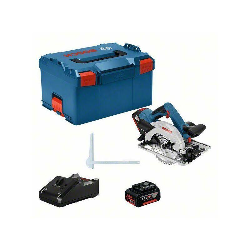 Bosch Professional Scie circulaire sans fil GKS 18V-57 G, avec 2 batteries