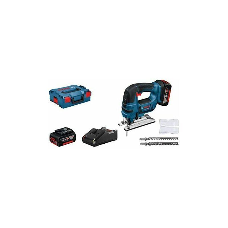 Bosch Scie sauteuse professionnelle GST 18V-LI B, 2 batteries x 4,0 Ah,