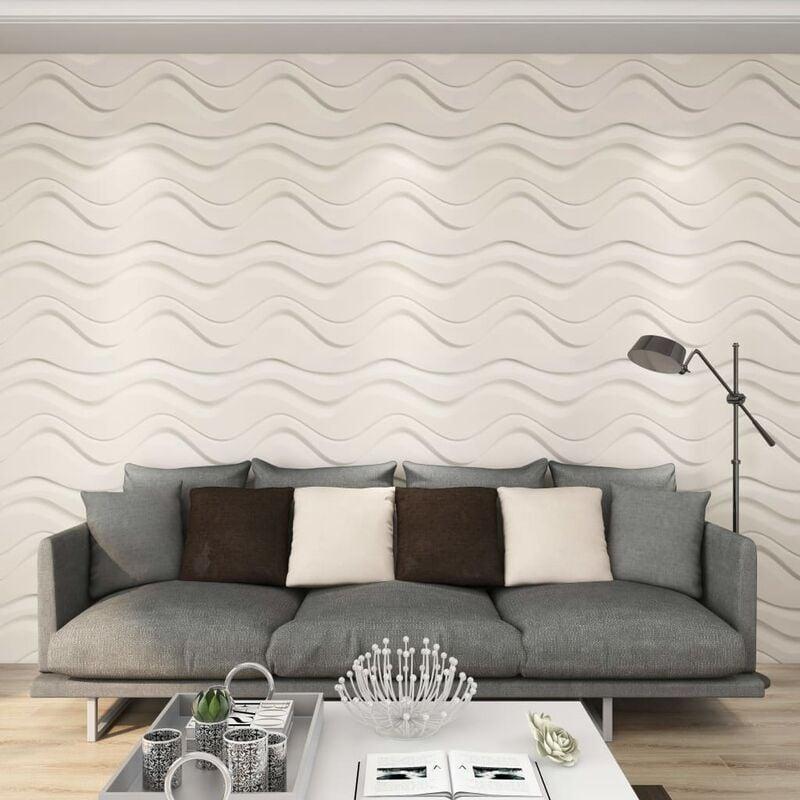 True Deal Panneaux muraux 3D 12 pcs 0,5x0,5 m 3 m²