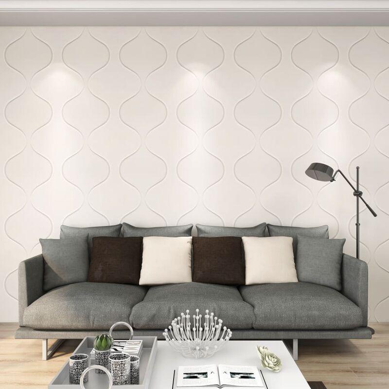 TRUE DEAL Panneaux muraux 3D 12 pcs 0,5x0,5 m 3 m² - True Deal