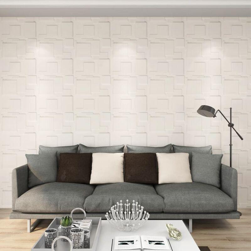 True Deal Panneaux muraux 3D 24 pcs 0,5x0,5 m 6 m²