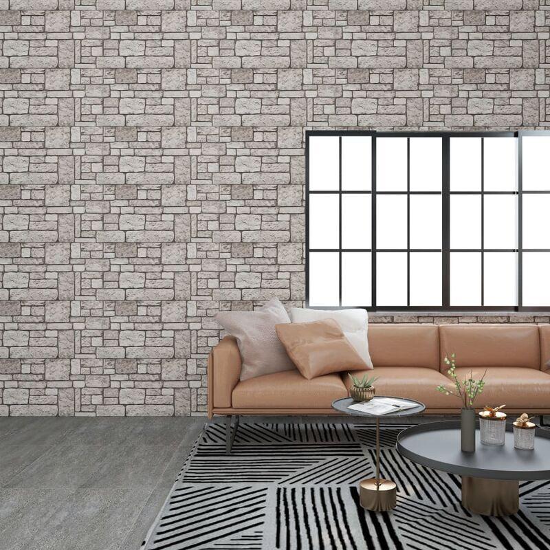 TRUE DEAL Panneaux muraux 3D avec design de brique gris 11 pcs EPS - True Deal