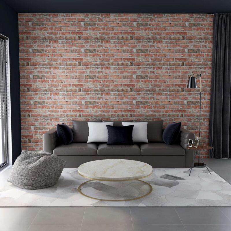 True Deal Panneaux muraux 3D avec design de brique rouge 11 pcs EPS