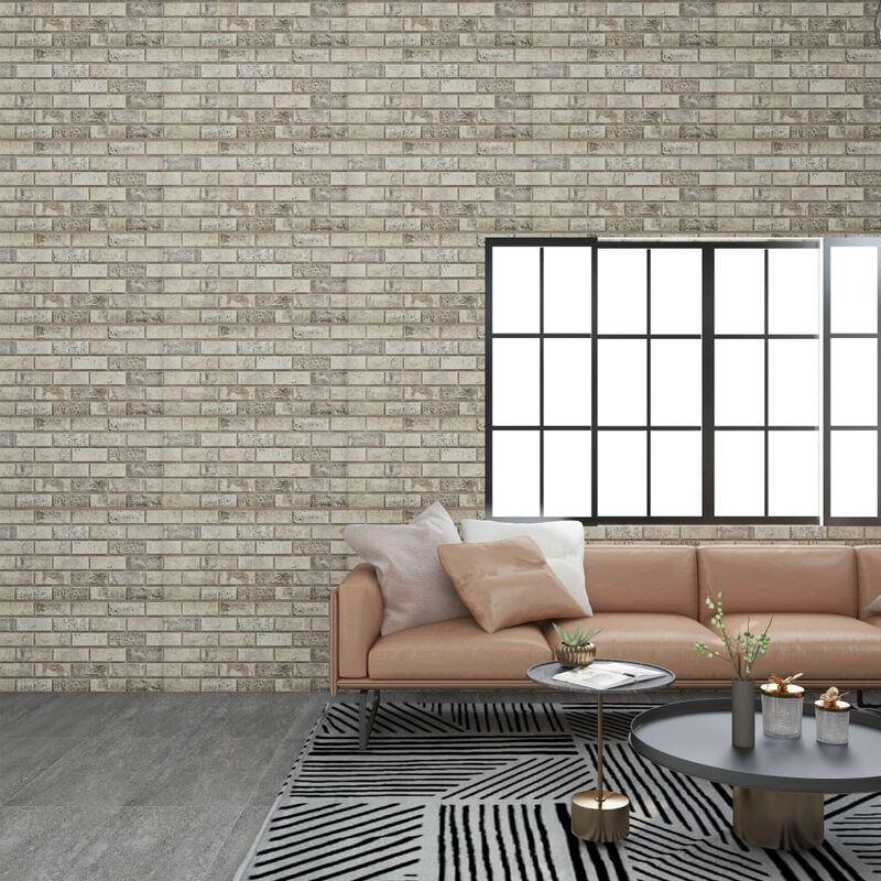 TRUE DEAL Panneaux muraux 3D avec design de brique sable 11 pcs EPS - True Deal