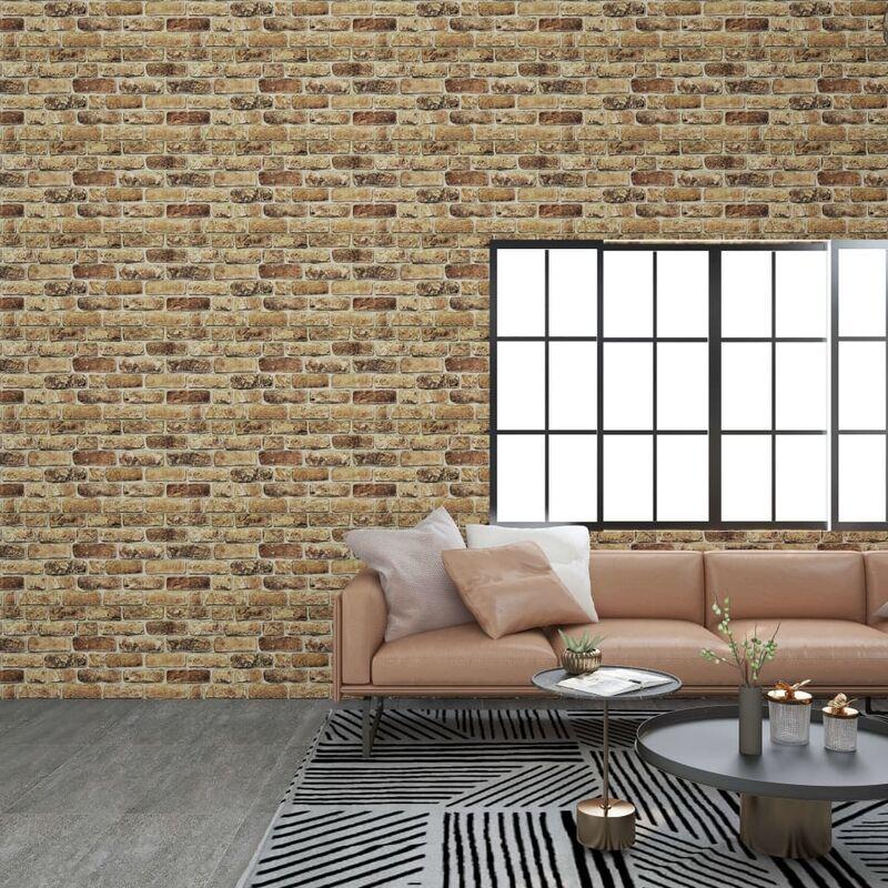 TRUE DEAL Panneaux muraux 3D avec design de brique sable foncé 11 pcs EPS - True Deal