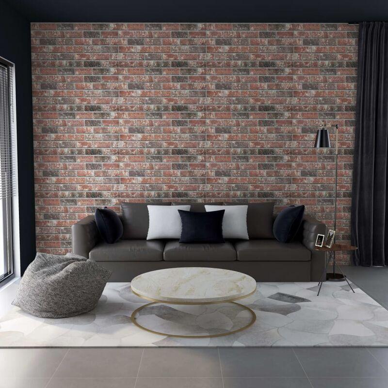 TRUE DEAL Panneaux muraux 3D design brique Gris et marron foncé 11pcs EPS - True Deal
