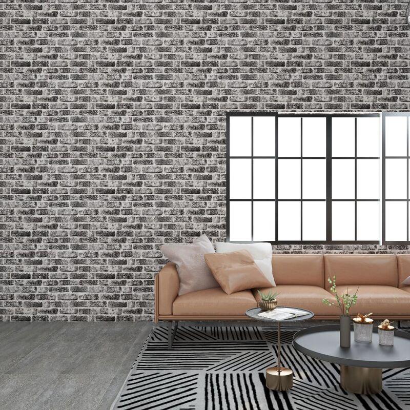 TRUE DEAL Panneaux muraux 3D design brique gris foncé 11 pcs EPS - True Deal
