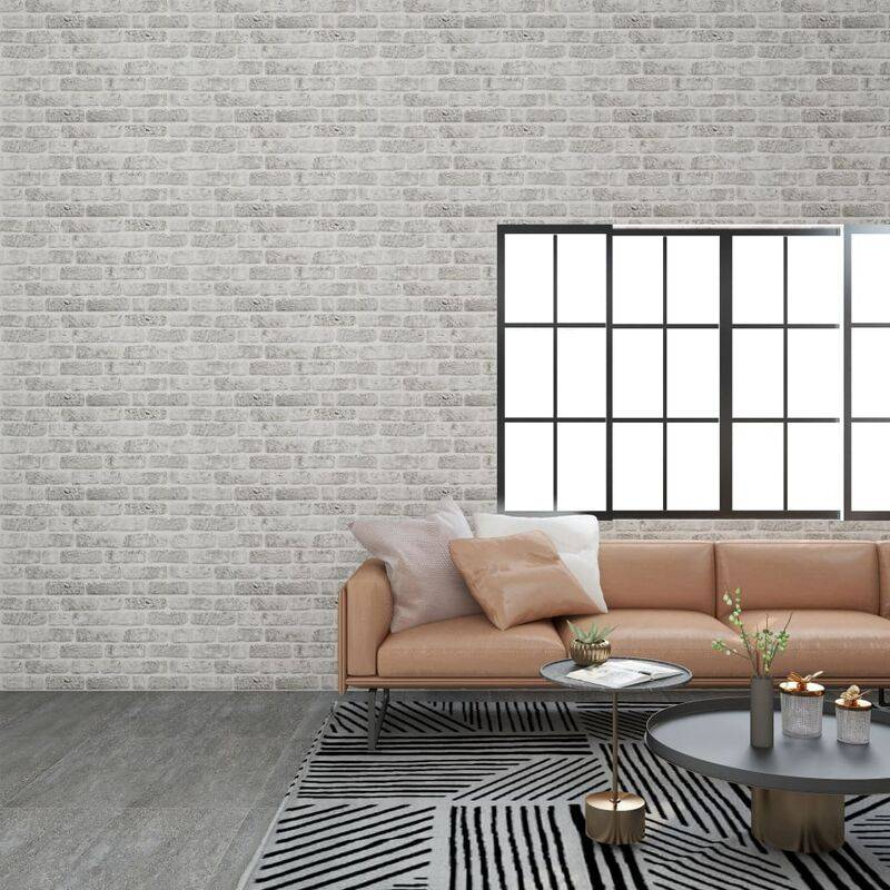 TRUE DEAL Panneaux muraux 3D design de brique gris clair 11 pcs EPS - True Deal