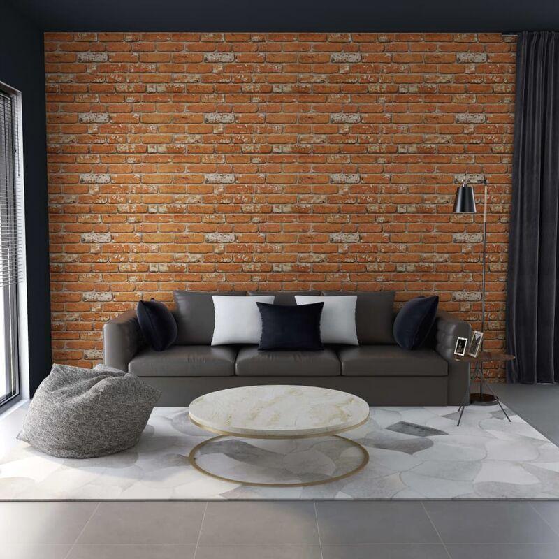 True Deal Panneaux muraux 3D design de brique marron clair 11 pcs EPS